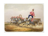 Carriage Racing Giclee Print by Charles De Hampeln