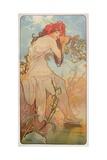 The Seasons: Summer, 1896 Giclée-tryk af Alphonse Mucha