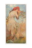 The Seasons: Summer, 1896 Gicléedruk van Alphonse Mucha