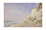 Cliffs near Dieppe, 1862 Giclee Print by Adolphe-felix Cals