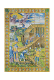 The Story of Noah: the Building of the Ark, Rouen Giclee Print by Masseot Abaquesne