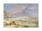 Winter, 17th century Giclée-Druck von Lucas Van Uden