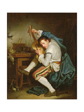 The Guitarist Giclee Print by Jean Baptiste Greuze