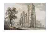 Llandaff Cathedral Giclee Print by Paul Sandby