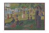 Study for 'A Sunday on La Grande Jatte', 1884 Giclee Print by Georges Seurat