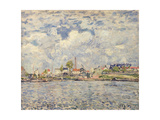 The Seine at Point du Jour, 1877 Giclee Print by Alfred Sisley