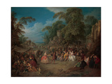 The fair at Bezons, c.1733 Giclee Print by Jean-Baptiste Joseph Pater