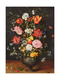 Still Life with Flowers and Strawberries Giclee Print by Jan Brueghel the Younger
