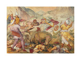 Battle Between the Venetians and the Turks Giclée-Druck von Antonio Vassilacchi
