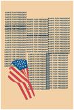 Kanye For Prez 2016 (Beige) Poster