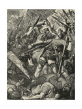 Death of Harold at the Battle of Hastings Giclee Print by James Cooper