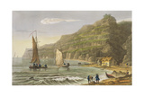 Shanklin Bay, from 'The Isle of Wight Illustrated, in a Series of Coloured Views' Giclee Print by Frederick Calvert