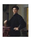 Portrait of a Young Man, c.1530 Giclée-tryk af Agnolo Bronzino