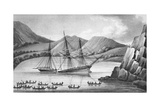 Brig Jane and Cutter Beaufoy Passing Through a Chain of Ice Islands, 1826 Giclee Print by  Weddell