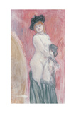 Coquette in Front of a Mirror Giclee Print by Felicien Rops