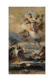Saint Thecla Praying for the Plague-Stricken, 1758-59 Giclee Print by Giovanni Battista Tiepolo