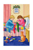 Christmas Stockings Giclee Print by Lavinia Hamer