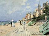Beach at Trouville Giclee-trykk av Claude Monet