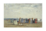 Swimmers on Trouville Beach, 1869 Giclee Print by Eugene Louis Boudin
