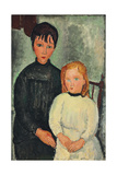 Two Girls; Les deux filles, 1918 Giclee Print by Amedeo Modigliani