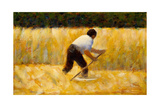 The Mower, 1881-82 Giclee Print by Georges Seurat