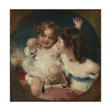 The Calmady Children (Emily, 1818–1906, and Laura Anne, 1820–94), 1823 Giclée-tryk af Thomas Lawrence