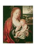 Virgin and Sleeping Child Giclee Print by Joos Van Cleve