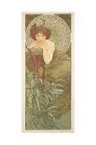 The Precious Stones: Emerald, 1900 Giclee Print by Alphonse Mucha