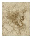 Caricature of a Man with Bushy Hair Prints by Leonardo Da Vinci