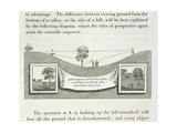 A Plain Appears a Hill, or a Hill a Plain, According to the Point of View from Whence Each Is Seen' Giclee Print by Humphry Repton