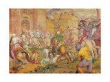 Conquest of a Turkish Town by the Venetians Giclée-Druck von Antonio Vassilacchi