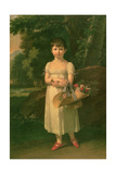 Portrait of Amelia Oginski, 1808 Giclee Print by Francois Xavier Fabre