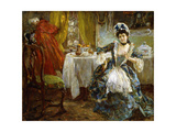 The Mistress of the Inn, 1919 Giclee Print by Alessandro Milesi