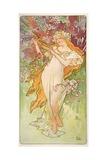 The Seasons: Spring, 1896 Giclée-tryk af Alphonse Mucha