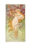 The Seasons: Spring, 1896 Giclee Print by Alphonse Mucha