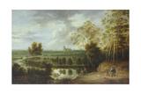 Landscape with Fisherman Giclée-Druck von Lucas Van Uden
