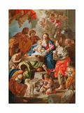 The Adoration of the Shepherds Giclee Print by Francesco de Mura