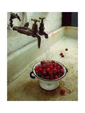 Washing cherries, 1988 Giclee Print by Norman Hollands