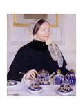 Lady at the Tea Table, 1883-5 Giclee Print by Mary Cassatt