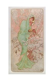 The Seasons: Winter, 1896 ジクレープリント : アルフォンス・ミュシャ