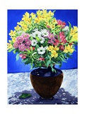 Flowers on Marble Giclee Print by Christopher Ryland