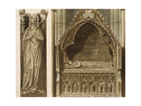 Effigy of Aveline, First Wife of Edmund Crouchback, Earl of Lancaster Giclee Print by Frederick Mackenzie