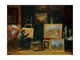 The Monkey Painter, 1805 Giclee Print by David the Younger Teniers