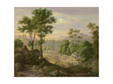 Italian Landscape, 1845 Giclee Print by Joachim Faber