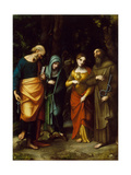 Saints Peter, Martha, Mary Magdalen, and Leonard, c.1515-7 Giclee Print by  Correggio