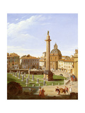 A View of Trajan's Forum, Rome, 1821 Giclee Print by Sir Charles Lock Eastlake