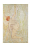 Female nude (pencil and w/c on paper) Giclee Print by Auguste Rodin