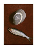 Fish and Rock Form, 1997 Giclee Print by Peter Davidson