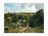 Jalais Hill at Pontoise, 1867 Reproduction procédé giclée par Camille Pissarro