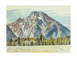 Mount Moran, 1946 Reproduction procédé giclée par Edward Hopper